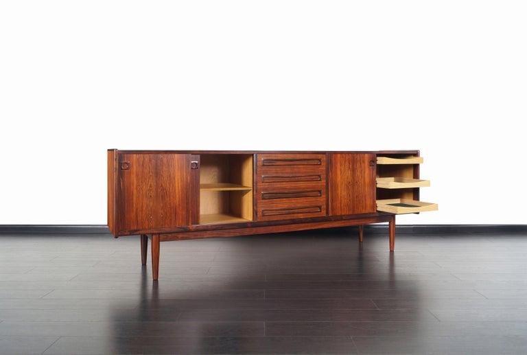 Mid-Century Modern Danish Brazilian Rosewood Credenza by Johannes Andersen