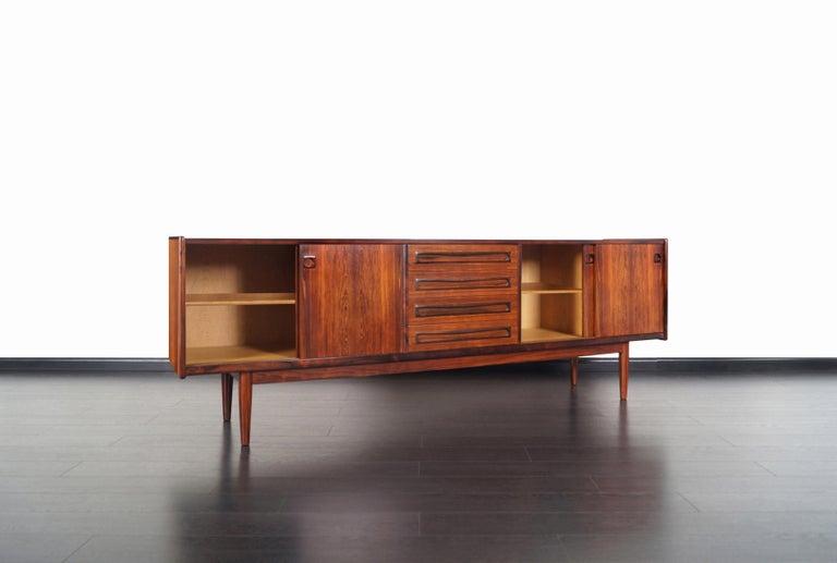 Mid-20th Century Danish Brazilian Rosewood Credenza by Johannes Andersen