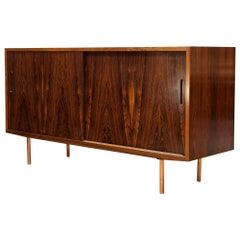 Danish Brazilian Rosewood Credenza Carlo Jensen Poul Hundevad, 1960s Midcentury