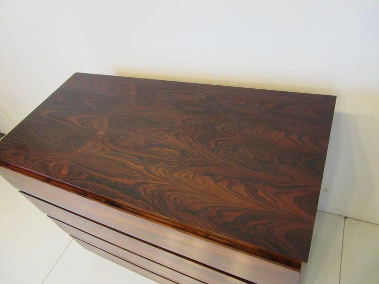 20th Century Danish Brazilian Rosewood Dresser Chest For Sale