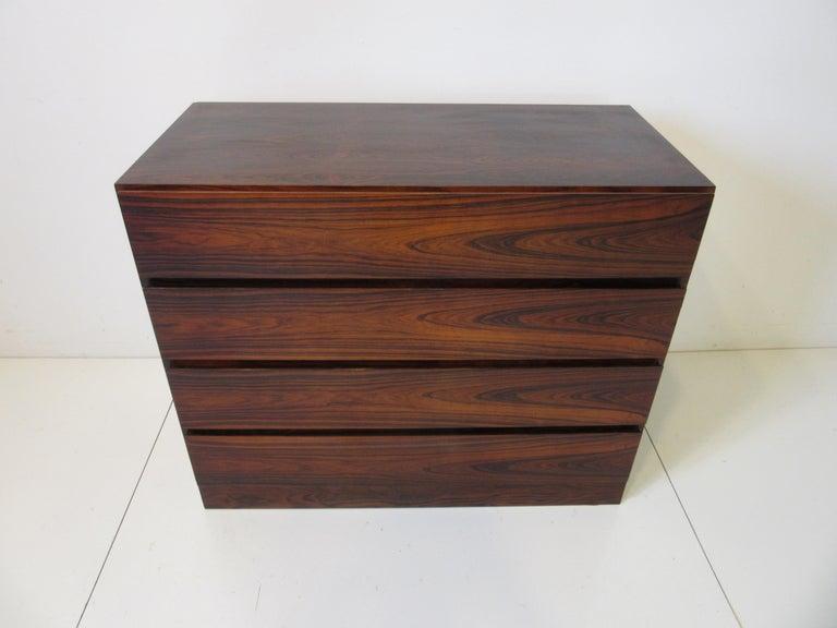 Danish Brazilian Rosewood Dresser Chest For Sale 3