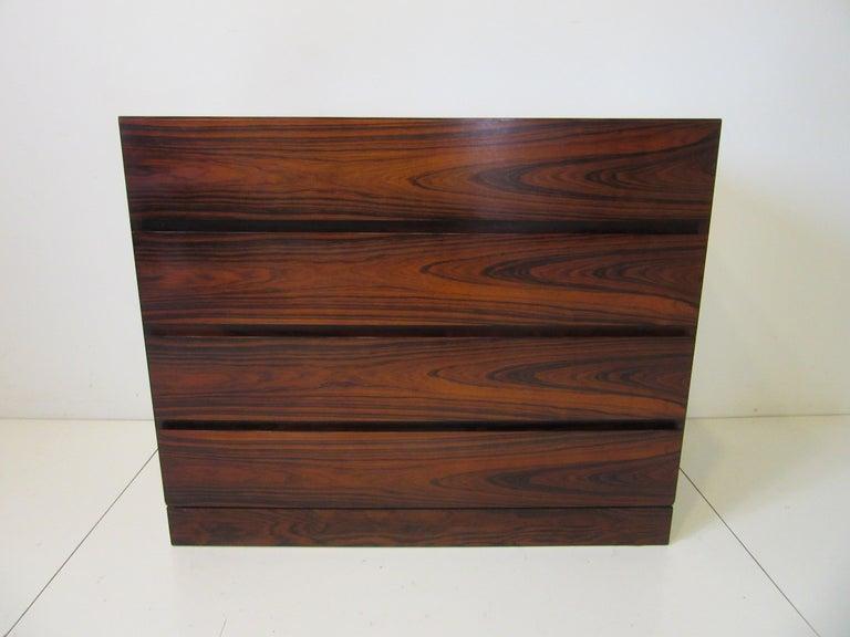 Danish Brazilian Rosewood Dresser Chest For Sale 4