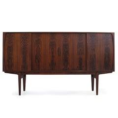 Danish Brazilian Rosewood Sideboard with Center Bar
