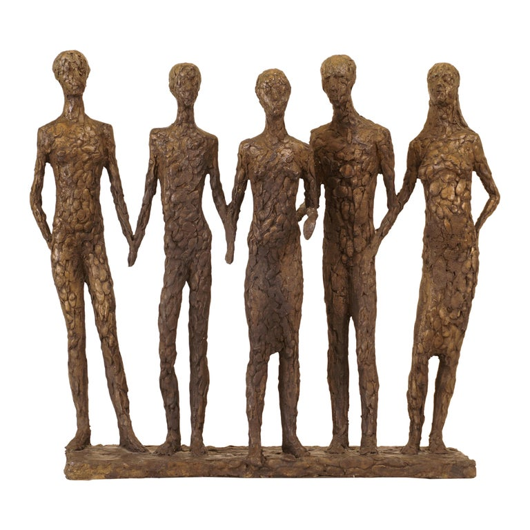 "Danish Bronze Sculpture ""The Five"" by Hanne Warming, Born 1939 For Sale"