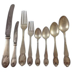 """Danish"" by Christian Heise Silver Dinner Flatware Set of 106 Handmade Pieces"