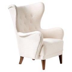 Danish Cabinetmaker 1940s Wing Chair