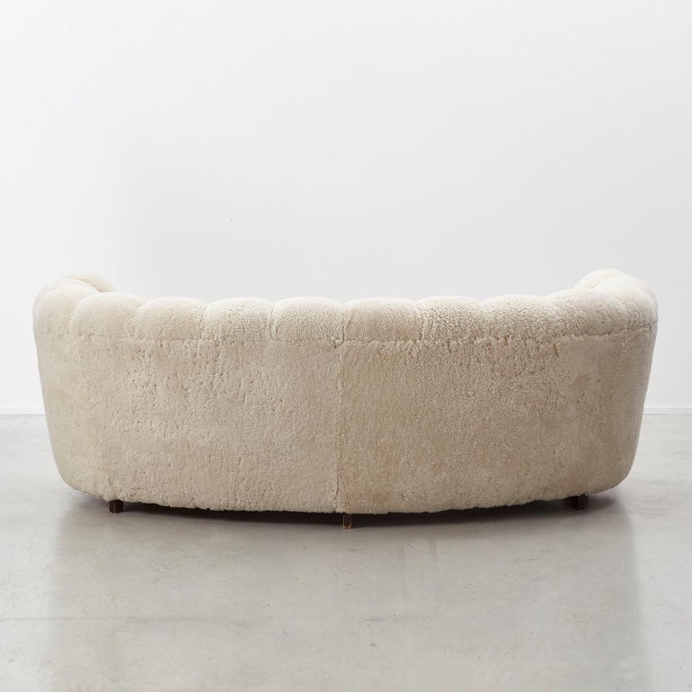 20th Century Danish Cabinetmaker Banana Sofa