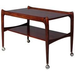 Danish Cabinetmaker Bar Cart, Rosewood, 1960s