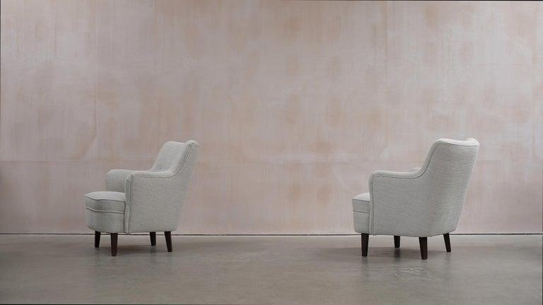 Scandinavian Modern Danish Cabinetmaker Lounge Chairs For Sale