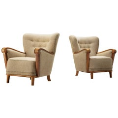 Danish Cabinetmaker Lounge Chairs in Oak