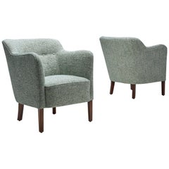 Danish Cabinetmaker Pair of Easy Chairs, Denmark, 1960s