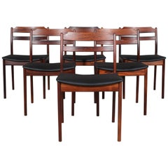 Danish Cabinetmaker, Six Rosewood Dining Chairs