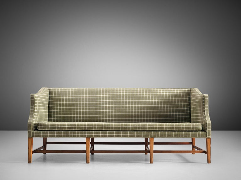 Danish Cabinetmaker Sofa in Mahogany and Upholstery In Good Condition For Sale In Waalwijk, NL
