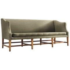 Danish Cabinetmaker Three-Seat Mahogany Sofa