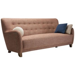 Danish Cabinetmaker Three-Seat Sofa, Denmark, 1960s