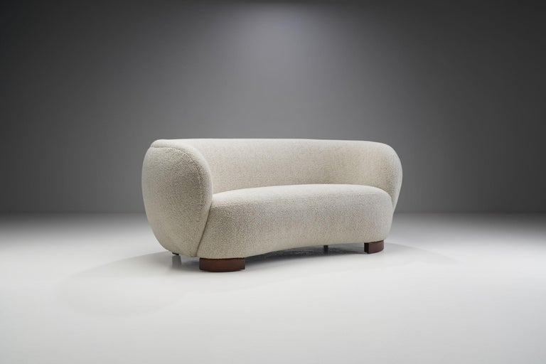 Mid-20th Century Danish Cabinetmaker Three-Seat Sofa, Denmark, circa 1950s For Sale