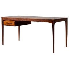 Danish Cabinetmaker Vintage Rosewood Desk, 1960s