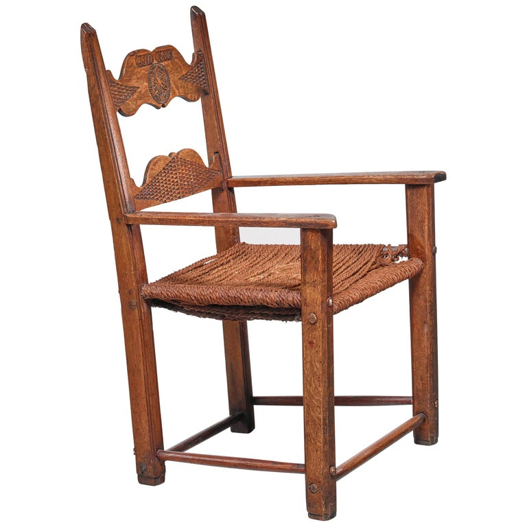 Carved-oak armchair, 1808, offered by Bloomberry