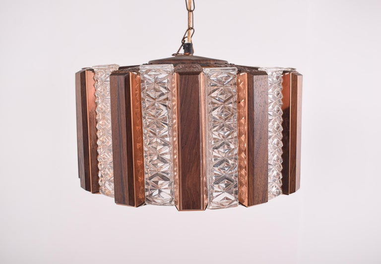 Mid-Century Modern Danish Ceiling Pendant by Werner Schou for Coronell Elektro, 1960s For Sale