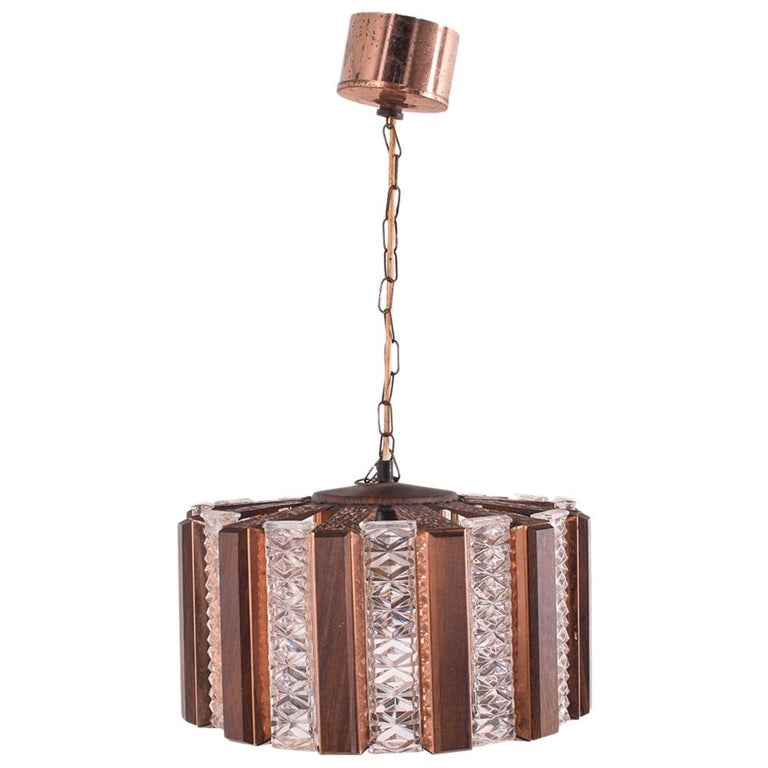 Danish Ceiling Pendant by Werner Schou for Coronell Elektro, 1960s For Sale