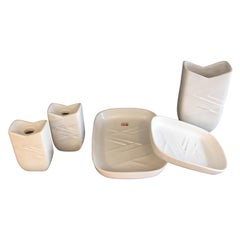 Danish Ceramics / Stoneware in White from Søholm, Bornholm