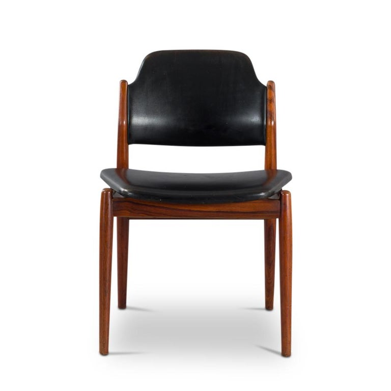 Danish Chair Model 62 by Arne Vodder for Sibast Furniture, Rosewood and Leather For Sale 2