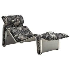 Danish Chaise Lounge in Rare Fabric