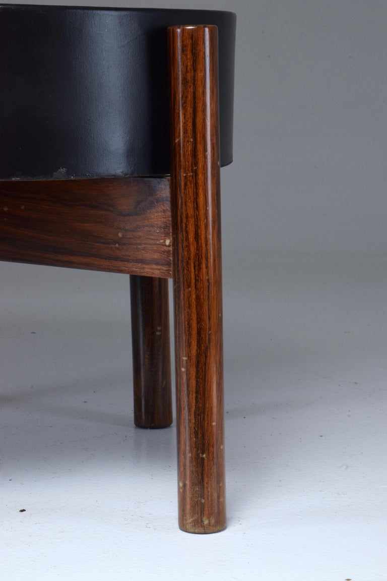 Danish Circular Midcentury Rosewood Planter, 1960s For Sale 6