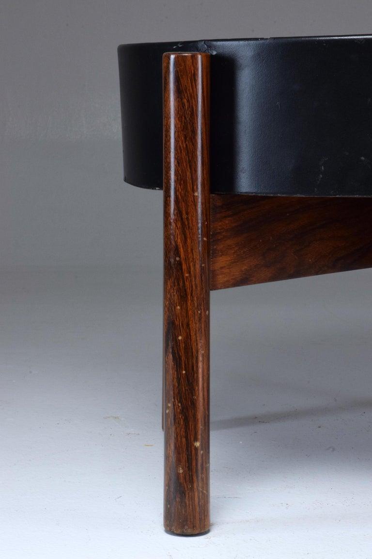Danish Circular Midcentury Rosewood Planter, 1960s For Sale 7