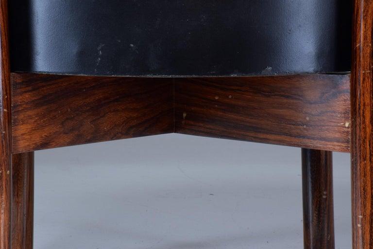 Danish Circular Midcentury Rosewood Planter, 1960s For Sale 8