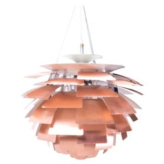 Danish Classic Vintage PH Artichoke Ceiling Lamp in Copper, 1980s