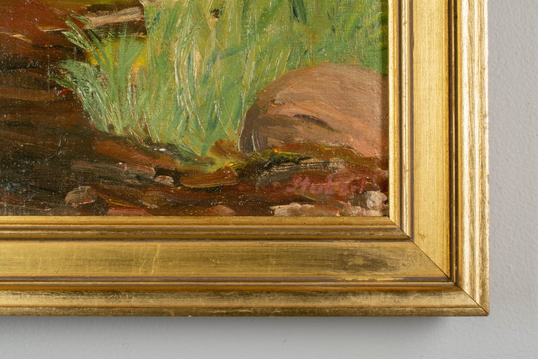 Danish Coastal Landscape Painting In Good Condition For Sale In Winter Park, FL