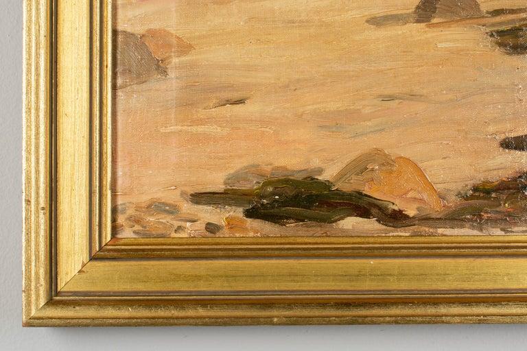 20th Century Danish Coastal Landscape Painting For Sale