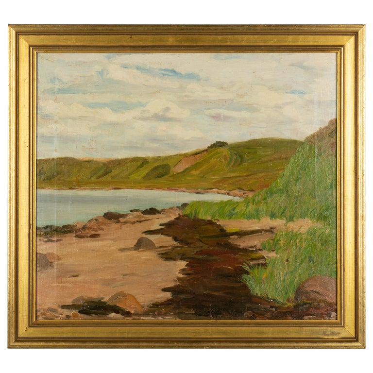 Danish Coastal Landscape Painting For Sale