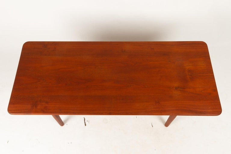 Danish Coffee Table in Solid Teak by Ib Kofod-Larsen, 1950s For Sale 6