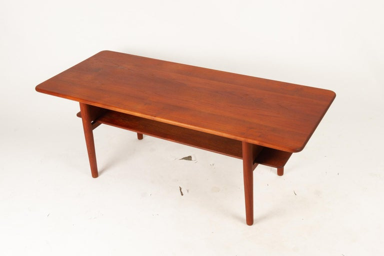 Danish Coffee Table in Solid Teak by Ib Kofod-Larsen, 1950s For Sale 8