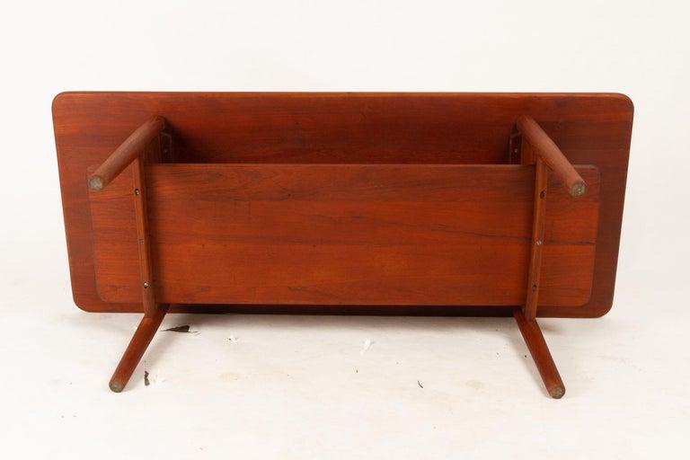 Danish Coffee Table in Solid Teak by Ib Kofod-Larsen, 1950s For Sale 9