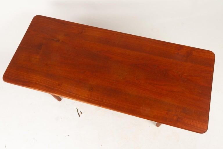 Danish Coffee Table in Solid Teak by Ib Kofod-Larsen, 1950s For Sale 10