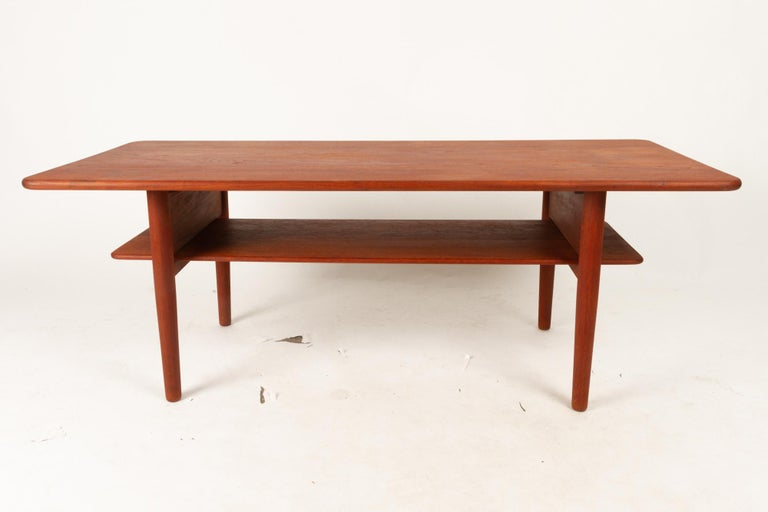 Mid-20th Century Danish Coffee Table in Solid Teak by Ib Kofod-Larsen, 1950s For Sale