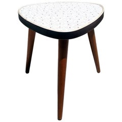 Danish Coffee Table or Plant Holder with Graphic Motif on the Top, 1960s