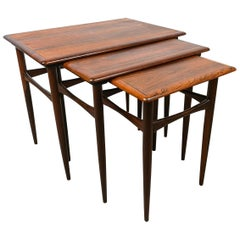 Danish Coffee Table Set, Kai Kristiansen Midcentury Rosewood