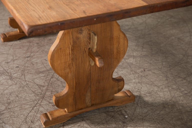 Danish Country Style Dining Table in Oak, ca. Early 1900s 1