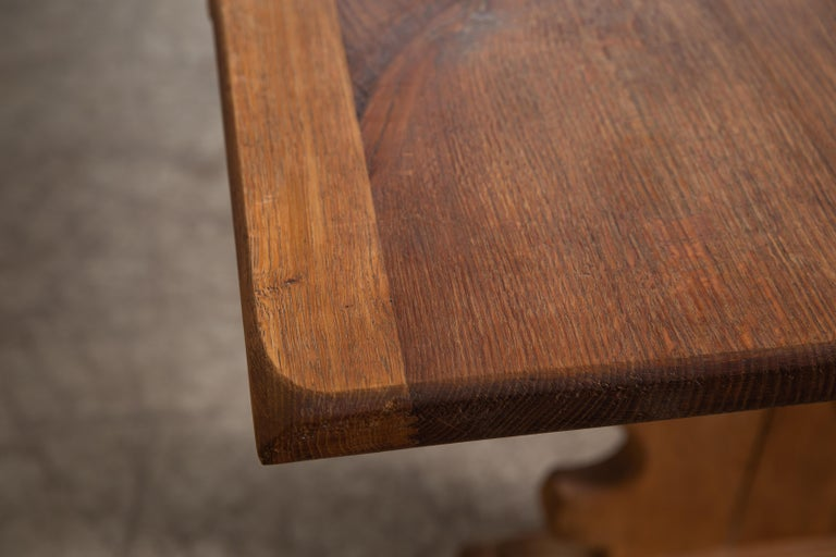 Danish Country Style Dining Table in Oak, ca. Early 1900s 3