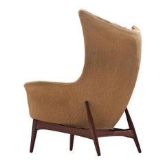 Danish Customizable Egg Lounge Chair in Teak