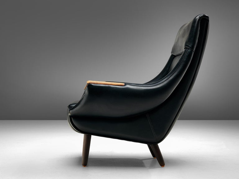Scandinavian Modern Danish Customizable Lounge Chair by H.W. Klein For Sale