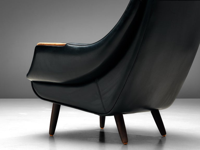 Faux Leather Danish Customizable Lounge Chair by H.W. Klein For Sale