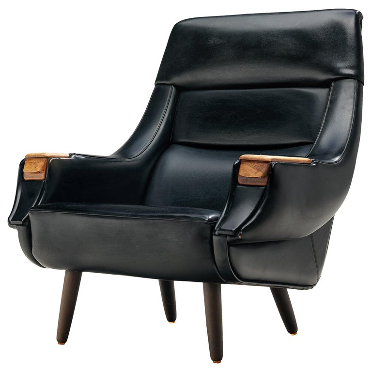 Danish Customizable Lounge Chair by H.W. Klein For Sale