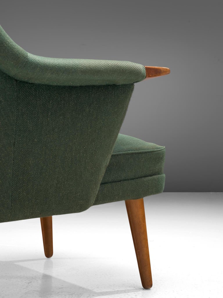 Mid-20th Century Danish Customizable Lounge Chair with Rounded Backrest For Sale