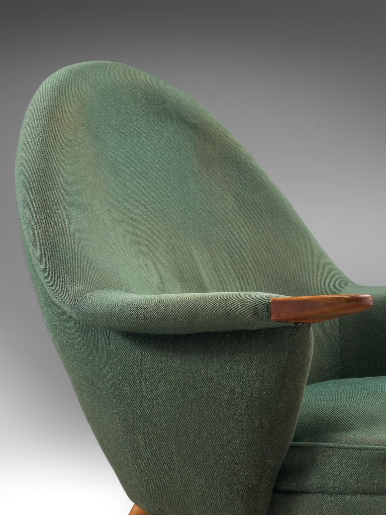 Danish Customizable Lounge Chair with Rounded Backrest For Sale 2
