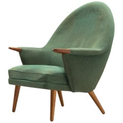 Danish Customizable Lounge Chair with Rounded Backrest